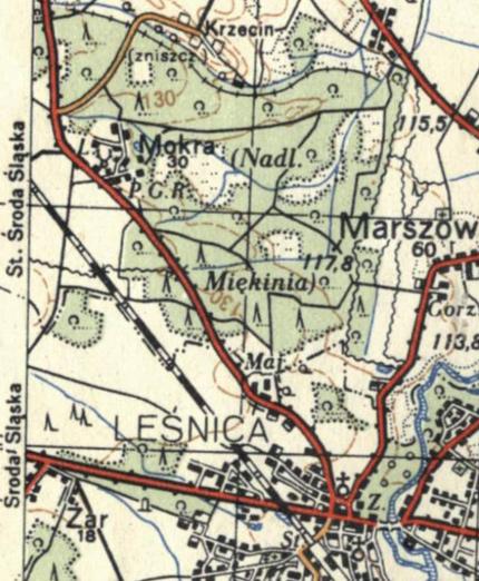Mapy Powojenne Ulica Dolnobrzeska I Okolice